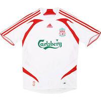 adidas Boys Youth Liverpool FC 2007 / 2008 Away Football T Shirt Retro Jersey