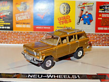 1981 AMC JEEP WAGONEER SUV 4X4 GOLD 1/64 SCALE DIECAST LIMITED EDITION DIORAMA H