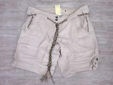 NEW Da-Nang Women's Shorts Embroidered MASTIC SKG53001906 W/ Belt Size MEDIUM