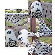 Pet Dog Cat Puppy Paw Print Fleece Couture Cozy Blanket Mat Sheet Soft Handcraft