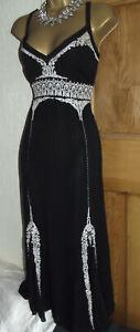 WALLIS Vintage ❤️1920's Art Deco Beaded Flapper Gatsby Downton Dress Size 14