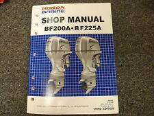 Honda Marine BF200A & BF225A Outboard Motor Shop Service Repair Manual 2002-2004