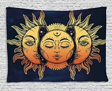 Psychedelic Wall Tapestry Hanging Celestial Sun Moon Stars LSD Art Hippie Hippy