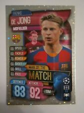 Match Attax CL 2019/20 Man of the Match card - Frenkie De Jong of Barcelona