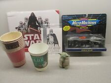 Lot of Vintage STAR WARS items - Cups, Ships, Yoda + More - See all my SW + 1977