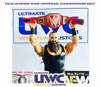 WWE Universal Title Faux Leather custom for Mattel/Jakks/Hasbro Figures