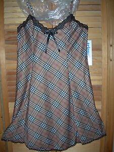 *NEW* CUTE USA SOFT Scottish Lingerie Short Sleepwear Gown w/ Lace Trims Medium