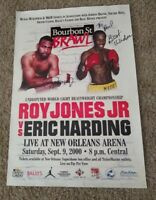 Roy Jones Jr Signed Poster In Person New Orleans 2000 Boxing Dual w Eric Harding