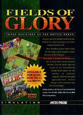 "Fields Of Glory ""Microprose"" 1994 Magazine Advert #5747"