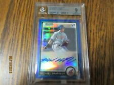 2010 MICHAEL BRANTLEY RC BOWMAN CHROME BLUE REF .5 From 9.5! BGS 9 MINT AUTO 10
