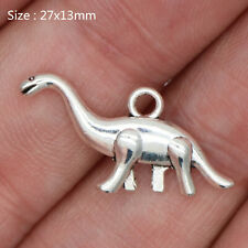 10/60Pcs Tibetan Silver Dinosaur Charms Pendants Fashion Jewelry Crafts 27*13mm