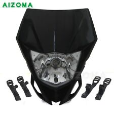 Motorcycle Dirt Bike Motocross Supermoto Headlight Headlamp Universal Black AU