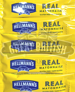 Hellmann's Mayonnaise Mayo Sauce Individual 10ml Sachets Hellmanns - FREE P&P