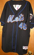 PEDRO MARTINEZ NEW YORK METS GAME JERSEY #45 BLACK LARGE SEWN MADE USA TAGS ON