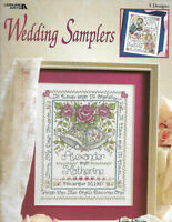 Leisure Arts - WEDDING SAMPLERS - 5 Announcements by Joan Elliot, c1998, OOP