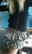Sass and Bide THE VERY FIRST TIME Leopard Ruffle Mini Skirt Sz 38 (8)