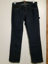 Dickies Work Jeans Relaxed Fit Carpenter Cotton Denim Indigo Blue Pants 34/32