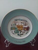 1980 Avon Plate Series Country Christmas 8th Edition By Enoch Wedgwood England
