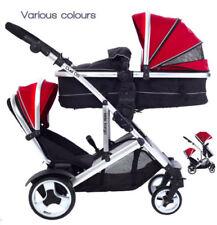 Poussettes et systèmes combinés de promenade rouges en couffin, nacelle pour bébé
