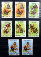 GHANA 1982 Butterflies Incl Values From M/Sheet NEW PRICE FP8631
