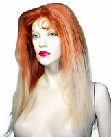 REAL Human Hair Glueless Silk Top Indian Remi Remy Full Lace Wig Blonde Auburn