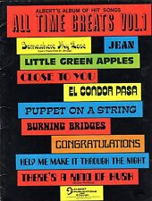 10 Huge 1960s ALL TIME GREAT HITS Sheet Music Book 1 in EC+ CONGRATULATIONS ++
