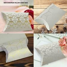 10Pc Wedding Party Favours Favor Boxes Pillow Shaped Sweet Candy Chocolate Boxes