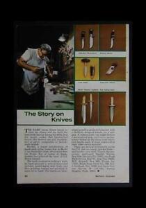 Bo Randall Custom Made Knives 1972 pictorial article
