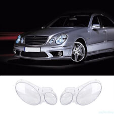 2pc Clear Headlight Lens Lamp Cover Lampshade Shell For Benz W211 E240 2002-2008
