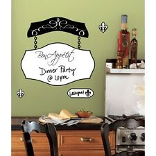 BON APPETIT DRY ERASE BOARD WALL DECALS Kitchen Stickers Decorations Cafe Decor