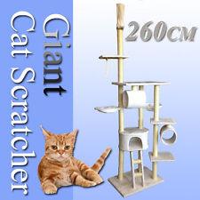 260cm Giant Cat Tree Scratching Post Scratcher Pole Condo Furniture Bed