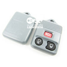 For Ford Transit Mondeo Maverick 3 button remote key shell & rubber pad grey