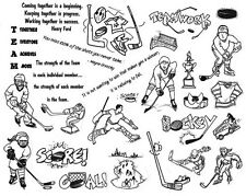 Unmounted Rubber Stamps Sheets, Sports, Sports Quotes, Ice Hockey, Sayings, Puck