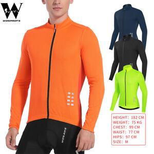 Adults Cycling Jersey Riding Shirts Full Zip Long Sleeve Road Bike Racing Tops