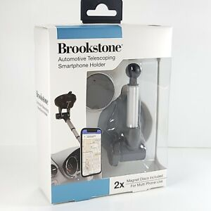 Brookstone Automotive Telescoping Smartphone With Strong Magnetic Holder New