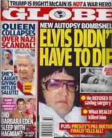 Globe Magazine August 10 2015 Elvis Presley Barbara Eden Donald Trump