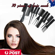 10Pcs/Set Pro Salon Hair Combs Hairdressing Hair Style Barber Plastic Brush Comb