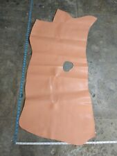 "Hide Cowhide Top Quality leather skin hide Double face Coral /Tan 23""x48""in 4 oz"