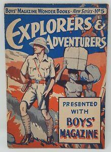 The Boys Magazine Vintage Comic Free Gift 1930's -  Explorers & Adventurers No.5