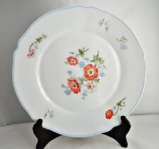 Arcopal Paradise Glass Scalloped Dinner Plate Poppy Pattern