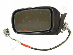 92-95 CARAVAN VOYAGER LH SIDE VIEW ELECTRIC NON-HEATED DOOR MIRROR BLACK power