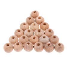 25pcs DIY granos redondos Bolas de madera respetuoso joyería  HGF