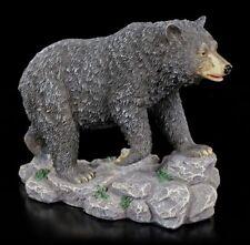 Schwarzbär Figur mit Jungem - Bär Deko Figur Wildtier