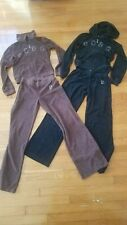 Vintage Lot 2 Bcbg Terry Cloth Black Brown Jump Suits Small