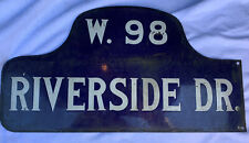 Original New York city Street Sign 1920's. Double Sided, Porcelain, Hump Back.