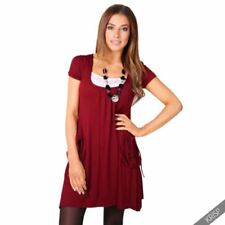 Viscose Short Sleeve Dresses for Women with Pockets