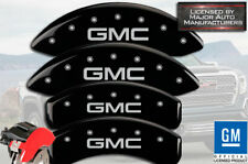 "2019-2020 ""GMC"" Sierra 1500 Front + Rear Black MGP Brake Disc Caliper Covers 4pc"