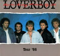 LOVERBOY 1986 LOVIN' EVERY MINUTE OF IT TOUR CONCERT PROGRAM BOOK-NMT TO MINT
