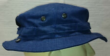 Recce Hat Boonie blue denim Jeans cotton fabric X-Large only - Made in Germany