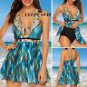 Womens Plus Size Two Piece Swimsuit Skirted Swimwear Swim Dress Costume Tank Top